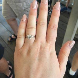 Ladies White Gold, Solitaire Diamond Ring